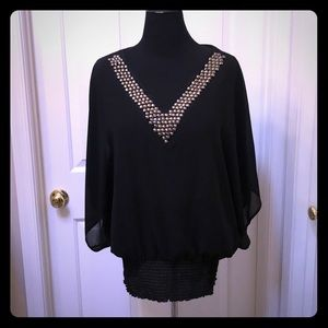 1x. Black torrid blouse